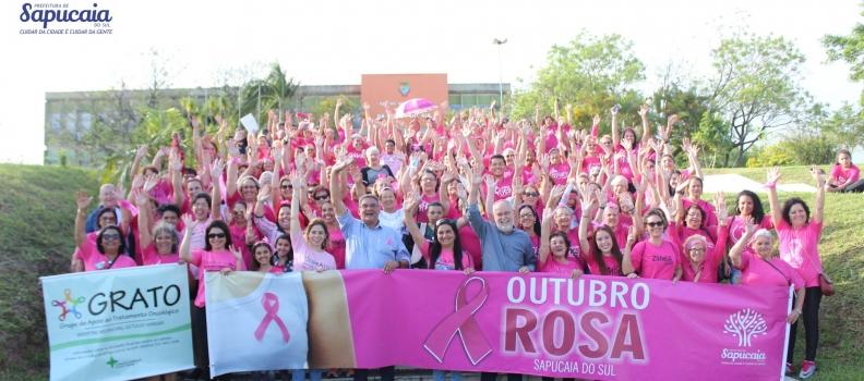 Caminhada do Outubro Rosa movimentou o Centro de Sapucaia do Sul!