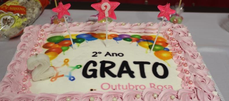 Grato comemora dois anos com palestra e muita festa