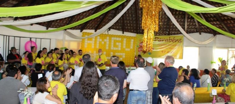 Festa promovida pelos trabalhadores comemora os 47 anos do HMGV