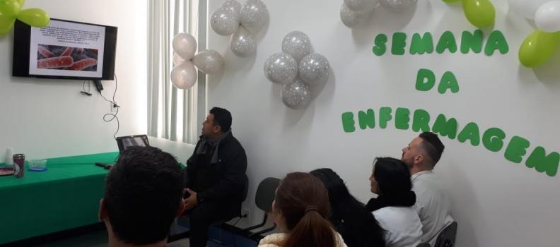 Atividades da Semana da Enfermagem orientam funcionários da UPA Sapucaia