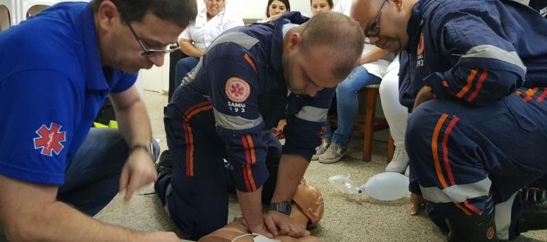 SAMU participa de capacitação para uso de equipamentos cardiológicos
