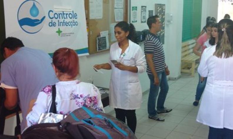Campanha de Higienização de Mãos conscientiza trabalhadores na FHGV